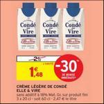 Bon Plan Crème Légère de Condé sur Vire Elle & Vire chez Intermarché - anti-crise.fr
