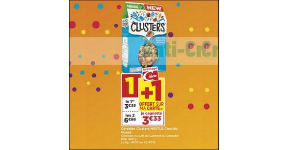 Bon Plan Céréales Clusters Granola chez Casino - anti-crise.fr