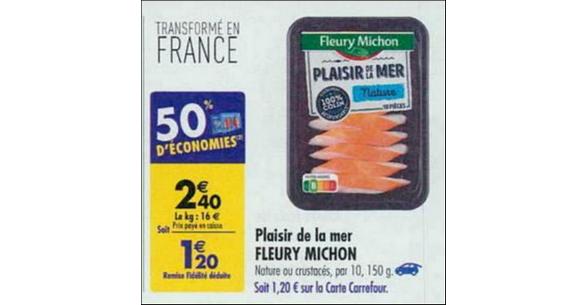 Bon Plan Plaisir de la Mer Fleury Michon chez Carrefour - anti-crise.fr