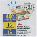 Bon Plan Salade Végétale Pierre Martinet chez Carrefour Market - anti-crise.fr