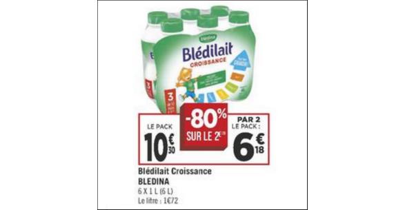 Bon Plan Blédilait Croissance Blédina chez Géant Casino - anti-crise.fr