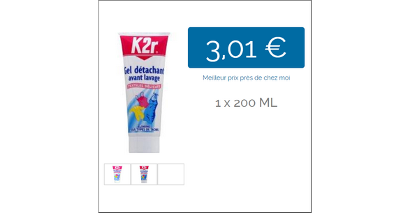 Bon Plan Détachant K2r Textiles Délicats - anti-crise.fr