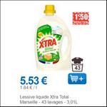Bon Plan Lessive Liquide X•TRA Total+ chez Leclerc - anti-crise.fr