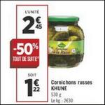 Bon Plan Cornichons Kühne chez Géant Casino - anti-crise.fr