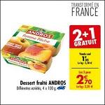 Bon Plan Dessert Fruitier Andros chez Carrefour (03/07 - 09/07) - anti-crise.fr