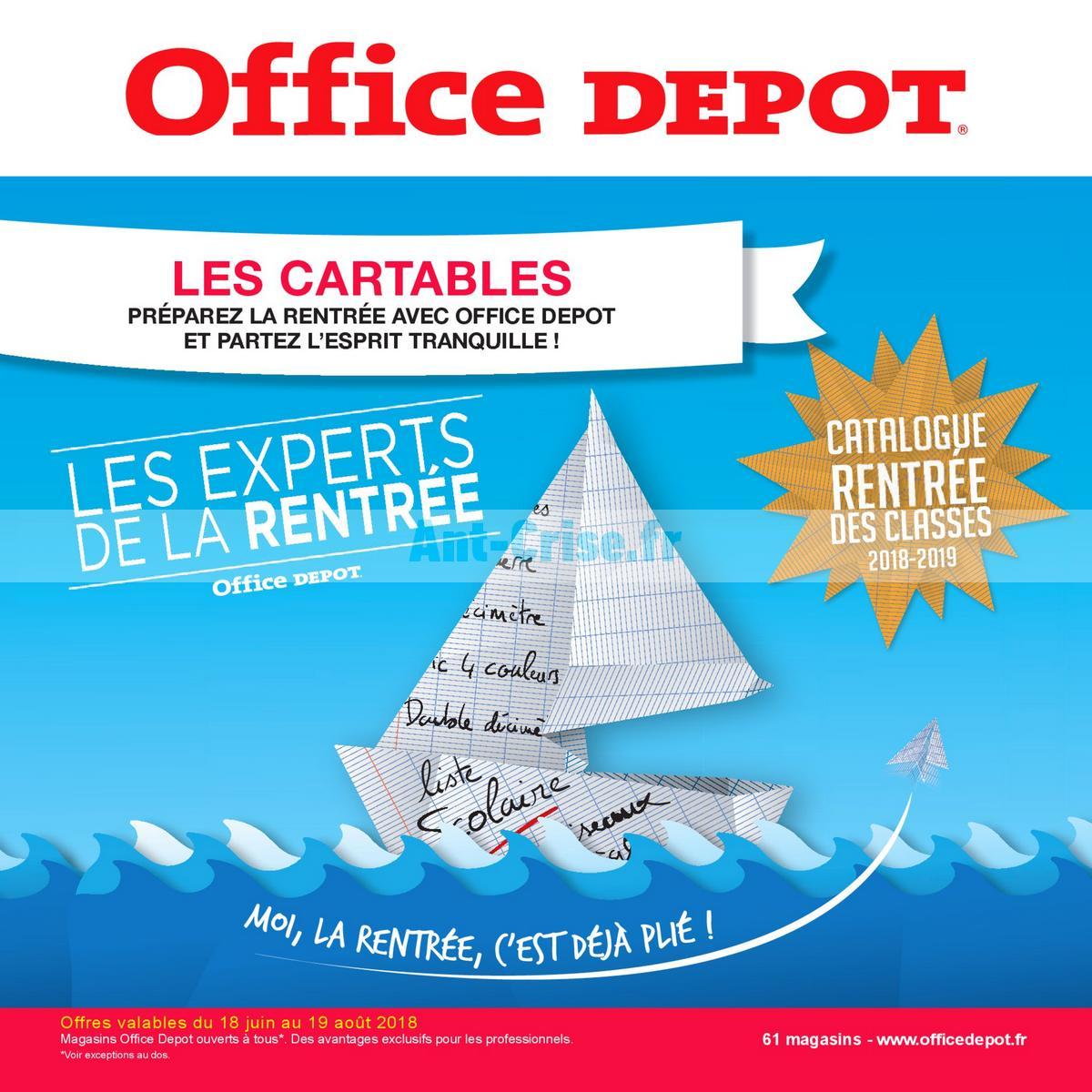 aout2018 Catalogue Office Dépôt du 18 juin au 19 août 2018 (Cartables) (1)