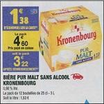 Bon Plan Bière Sans Alcool Kronenbourg chez Carrefour Market (26/06 - 01/07) - anti-crise.Fr