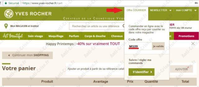 6aa1e5ec13 Vous avez un cadeau au choix pour toute commande, le sac ou d'autres  produits : Bon Plan Yves Rocher ...