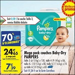 Bon Plan Couches Pampers Baby Dry chez Carrefour Market (05/06 - 17/06) - anti-crise.fr