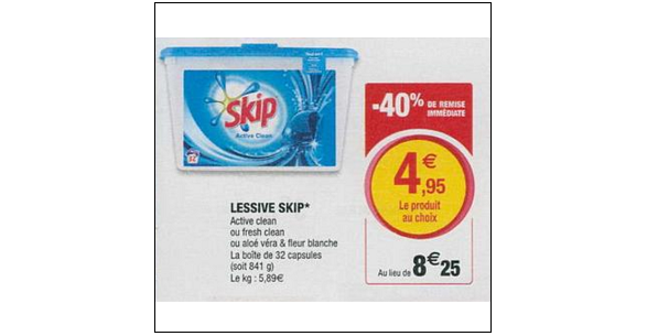 Bon Plan Lessive Skip Capsules chez Magasins U (26/06 - 07/07) - anti-crise.fr