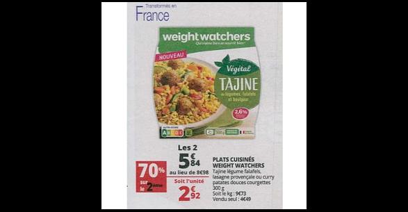 Bon Plan Plat Cuisiné Weight Watchers chez Auchan (27/06 - 02/07) - anti-crise.fr