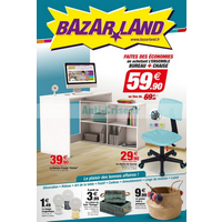 Catalogue Bazarland du 13 août au 9 septembre 2018