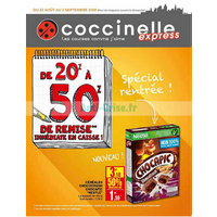Catalogue Coccinelle du 22 août au 2 septembre 2018 (Express)