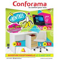 Catalogue Conforama du 7 au 27 août 2018