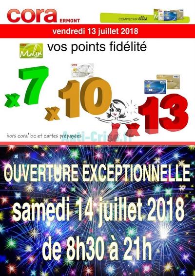Carte Fidelite Cora Ermont.Cora Du 13 Au 14 Juillet Ermont