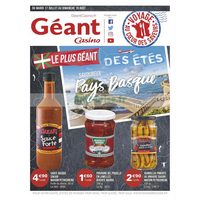 Catalogue Géant Casino du 17 juillet au 19 août 2018 (Anglet)