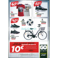 Catalogue Go Sport du 30 juillet au 19 août 2018