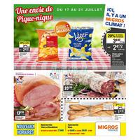 Catalogue Migros du 17 au 21 juillet 2018