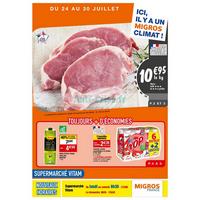 Catalogue Migros du 24 au 30 juillet 2018 (Vitam)