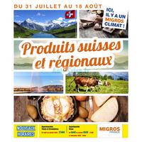 Catalogue Migros du 31 juillet au 18 août 2018