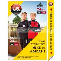 Catalogue Sport 2000 du 1er au 26 août 2018
