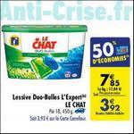 Bon Plan Lessive Le Chat Capsules L'Expert chez Carrefour - anti-crise.fr