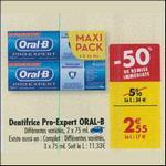 Bon Plan Dentifrice Oral-B Pro-Expert chez Carrefour - anti-crise.fr
