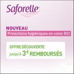 Offre de Remboursement Saforelle : Jusqu'à 3€ Remboursés sur les Protections Hygiéniques en Coton bio - anti-crise.fr