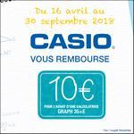 Offre de Remboursement Casio : 10€ Remboursés sur Calculatrice Graph 35+E - anti-crise.fr