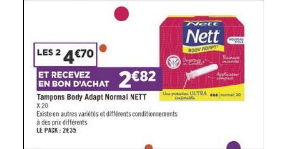 Bon Plan Tampons Nett chez Géant Casino - anti-crise.fr
