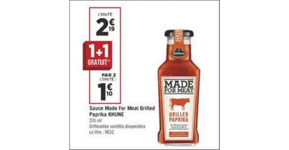 Bon Plan Sauce Made for Meat Kühne chez Géant Casino - anti-crise.fr