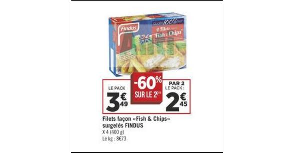 Bon Plan Fish & Chips Findus chez Géant Casino - anti-crise.fr