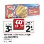 Bon Plan Bâtonnets Fish & Chips Findus chez Géant Casino - anti-crise.fr