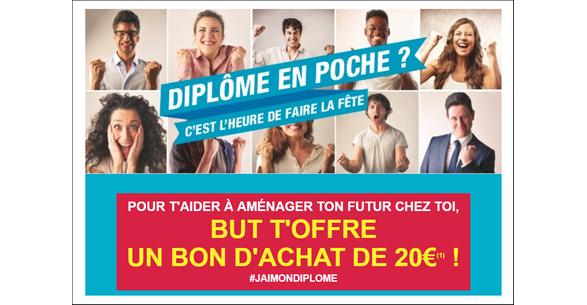 Bon Plan But pour les Jeunes Diplômés : Bon d'achat de 20€ - anti-crise.fr