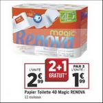Bon Plan Papier Toilette 4D Magic Renova chez Géant Casino - anti-crise.fr