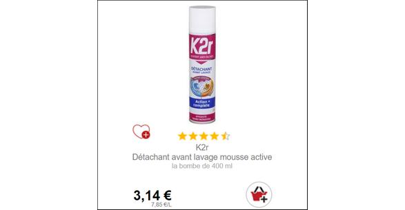 Bon Plan Détachant Mousse K2r chez Intermarché - anti-crise.fr