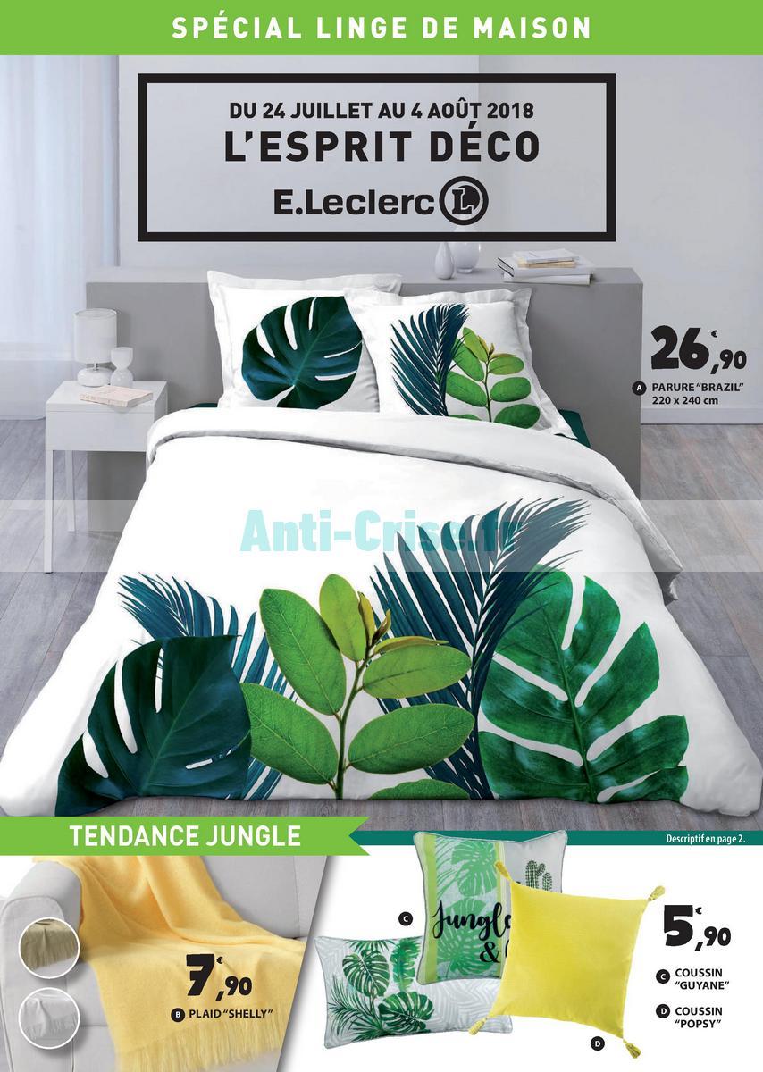 linge de lit leclerc fr Catalogue Leclerc du 24 juillet au 4 août 2018 (Bretagne – Linge  linge de lit leclerc fr