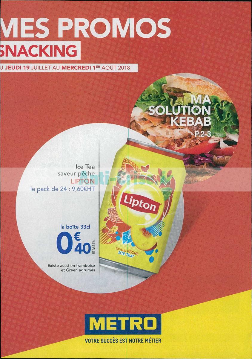Catalogue Metro du 19 juillet au 1er août 2018 (Snacking)