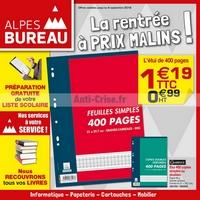 Catalogue Alpes Bureau du 12 août au 8 septembre 2018