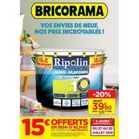Catalogue Bricorama du 25 juillet au 19 août 2018