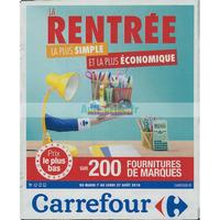 Catalogue Carrefour du 7 au 27 août 2018 (Rentrée Scolaire)