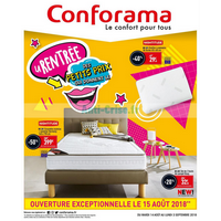 Catalogue Conforama du 14 août au 3 septembre 2018