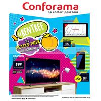 Catalogue Conforama du 21 août au 3 septembre 2018