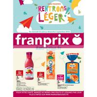 Catalogue Franprix du 22 août au 2 septembre 2018