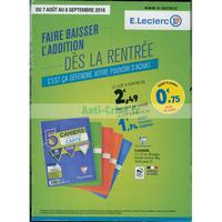 Catalogue Leclerc du 7 août au 8 septembre 2018 (Rentrée Scolaire)