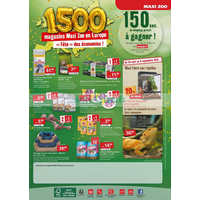 Catalogue Maxi Zoo du 29 août au 7 octobre 2018