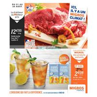 Catalogue Migros du 21 au 25 août 2018 (Frais)