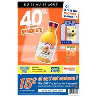 Catalogue Migros du 21 au 27 août 2018