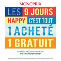 Catalogue Monoprix du 26 septembre au 8 octobre 2018
