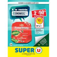 Catalogue Super U du 14 au 25 août 2018